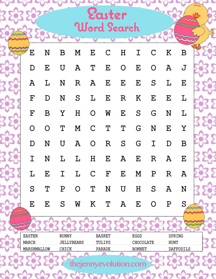 It is an image of Selective Printable Easter Word Searches