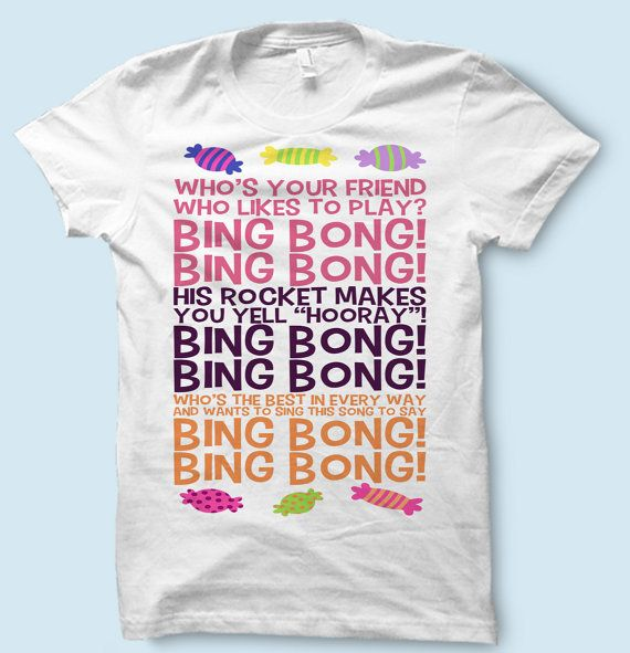 Inside out Bing Bong Song White T Shirt  \\ \\ OPTIONS \\ \\  \\ Fitted Shirts \\ Our Fitted shirts are form-fitting Thin Shirts perfect for