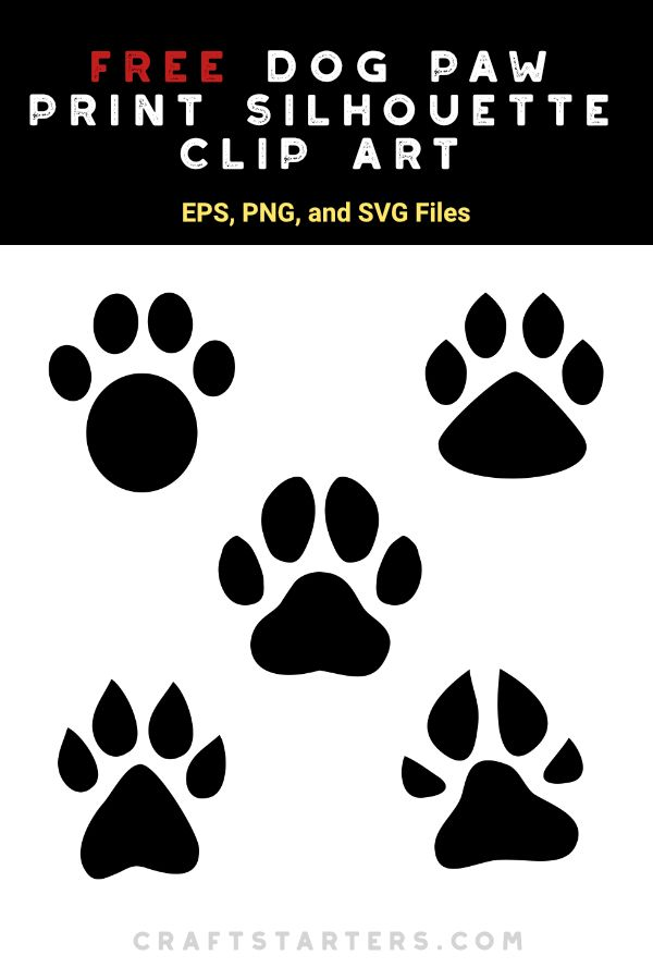 Dog Paw Svg Free : Print, Silhouette, Craft,, Print,