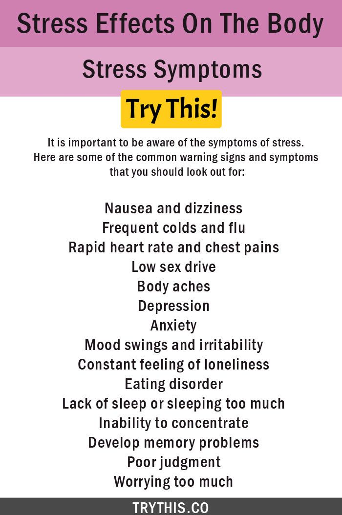 what are the symptoms stress and anxiety?