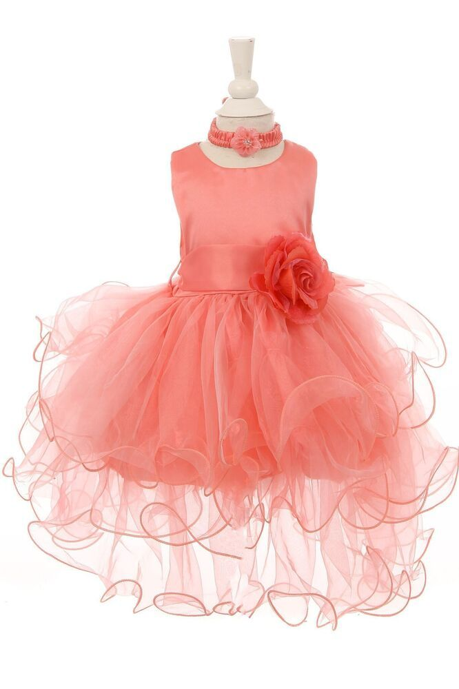 329160a9f70 BABY GIRLS SATIN SASH RUFFLES FLOWER GIRL SPECIAL OCCASION STYLE SS1030   fashion  clothing  shoes  accessories  babytoddlerclothing   girlsclothingnewborn5t ...