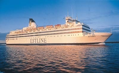 MS Estonia, previously MS Viking Sally (–1990), MS Silja Star (–1991), and MS Wasa King (–1993), was a cruise ferry built in 1979 at the German shipyard Meyer Werft in Papenburg. The Estonia disaster occurred on September 28, 1994 between about 00:55 to 01:50 (UTC+2) as the ship was crossing the Baltic Sea, en route from Tallinn, Estonia, to Stockholm, Sweden. She was carrying 989 passengers and crew.