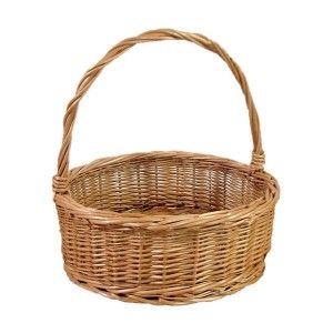 Okrągły wiklinowy koszyk