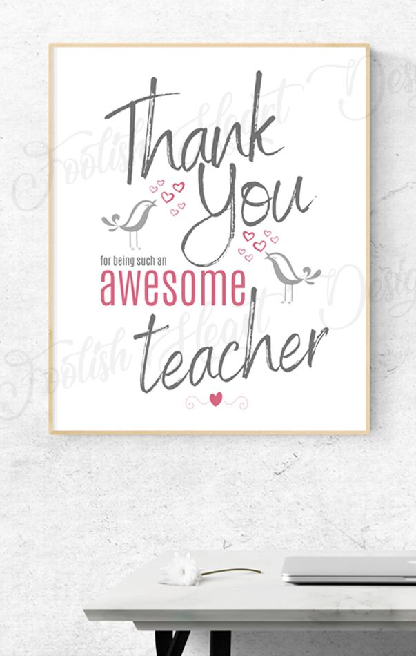 Teacher Appreciation Gift Printable Teacher Thank You For Being Awesome Thank You Teacher Poster Digital Download In 2020 Teacher Appreciation Gifts Teacher Appreciation Printables Teacher Appreciation
