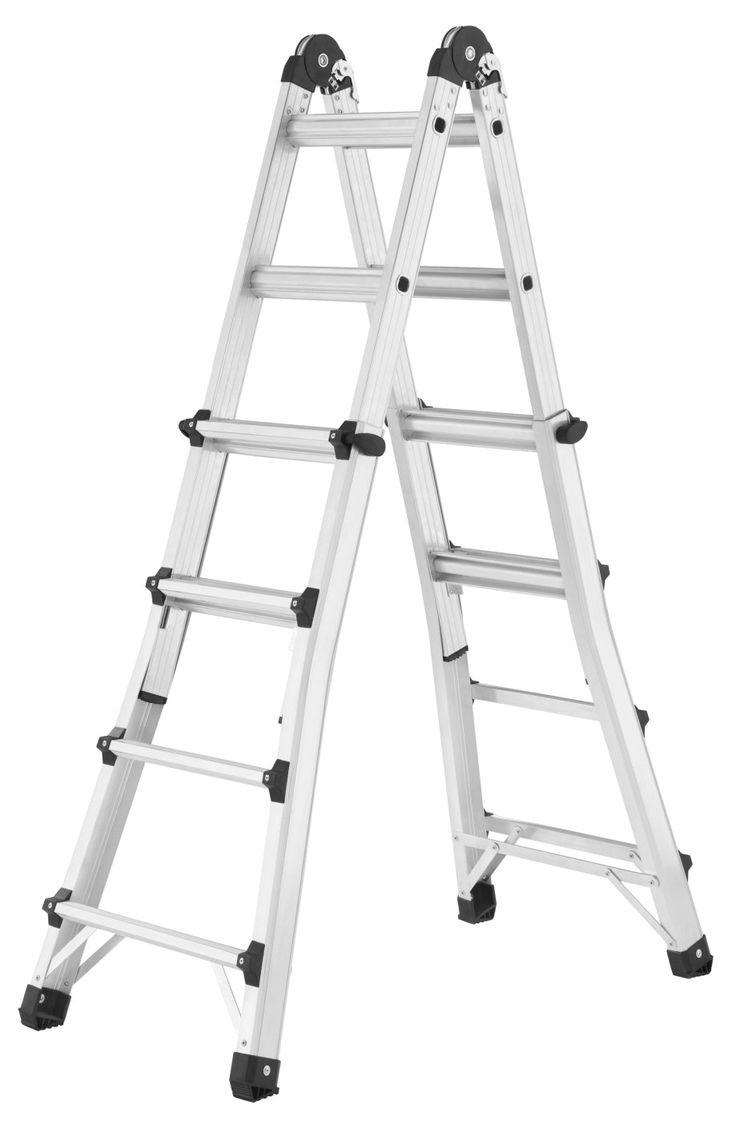 Hailo MTL Alu Multifunktions Teleskopleiter 4x3 bis 4x6 Sprossen Leiter NEU | markenbaumarkt24
