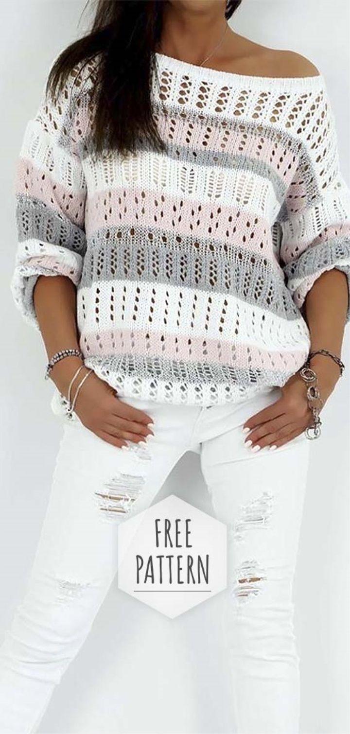 Padrão livre de blusa de crochê   – Häckeln & Stricken