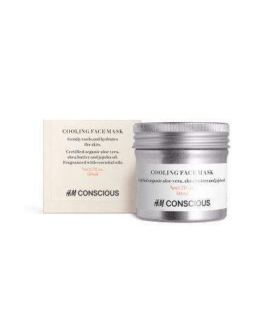 Cooling. CONSCIOUS. A soothing face mask that gently cools and hydrates the skin. Contains certified organic aloe vera, shea butter and…
