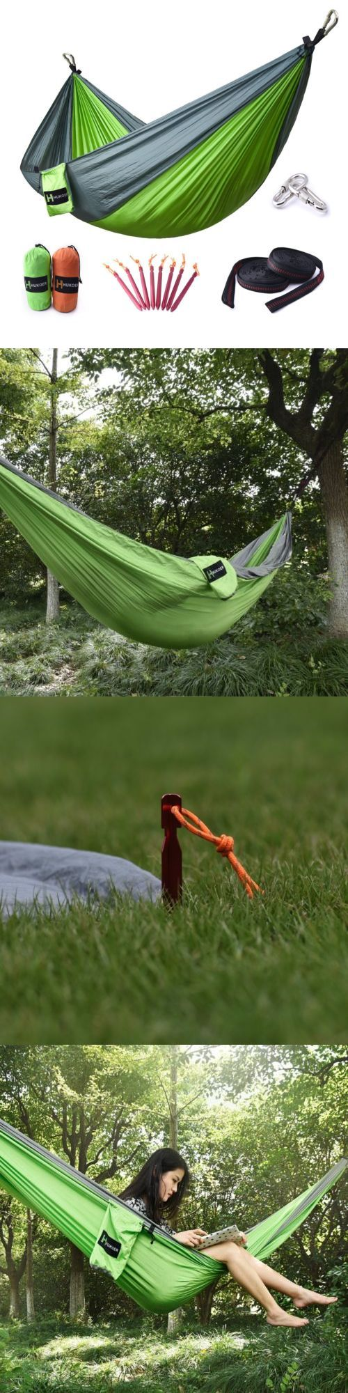 Hammocks 159030: Portable Double Camping Hammock Outdoor Sleeping Backyard Hanging Travel Bed -> BUY IT NOW ONLY: $31.99 on eBay!