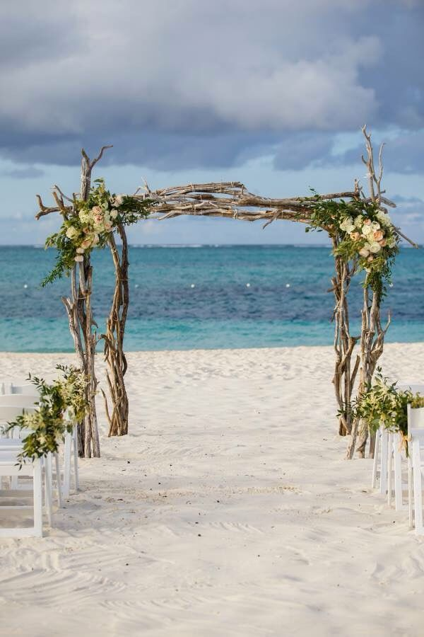 all inclusive beach wedding destinations%0A Beautiful driftwood arch for a beach wedding