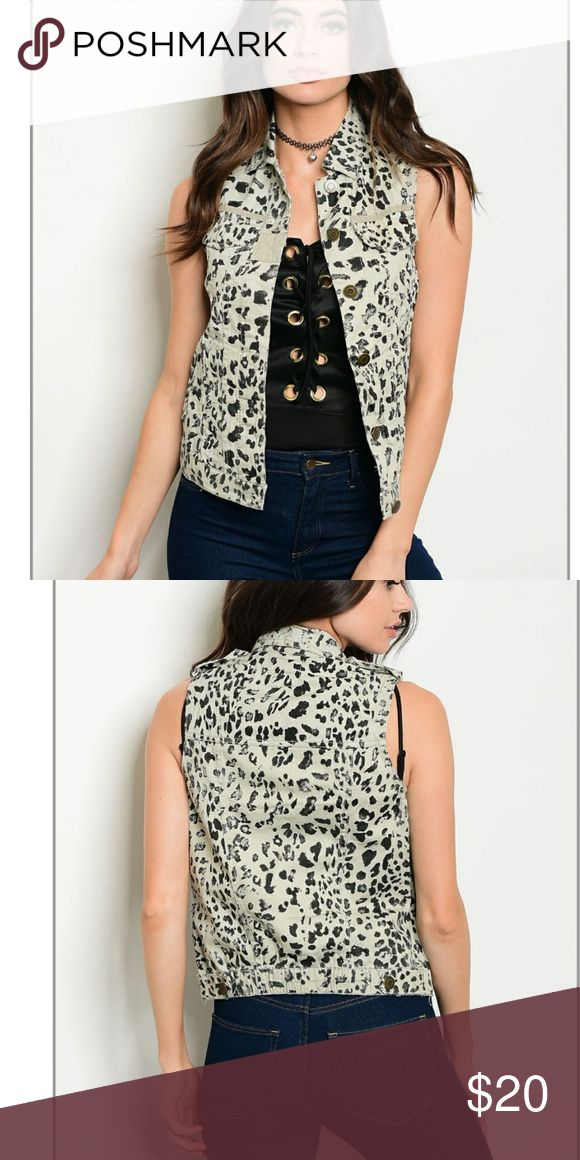 """""""LIZ"""" Animal Print Vest 💞💞Animal print  button up vest .. perfect for fall ,winter, summer or spring !    💞💞💞💞💞💞💞       ✔100% cotton Jackets & Coats Vests"""