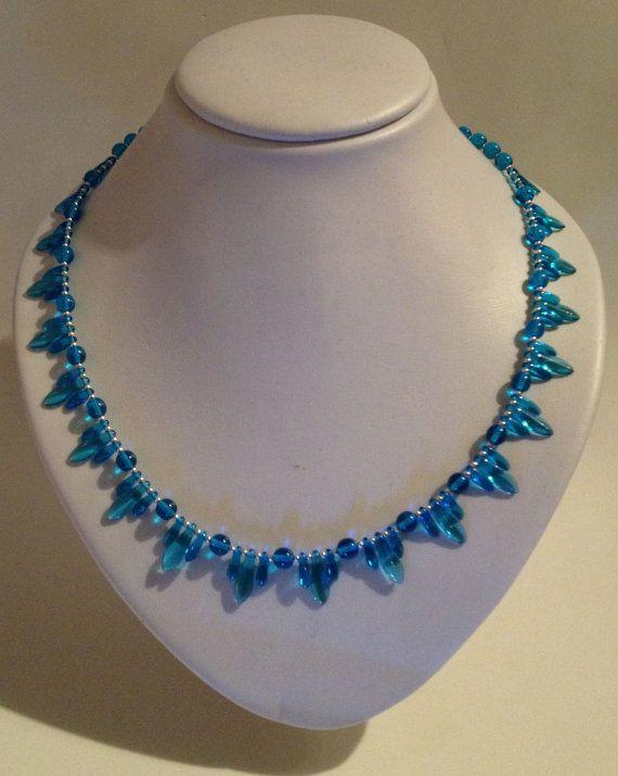 Turquoise Blue Art Deco Inspired Beaded by JewelleryByJanine, £20.00