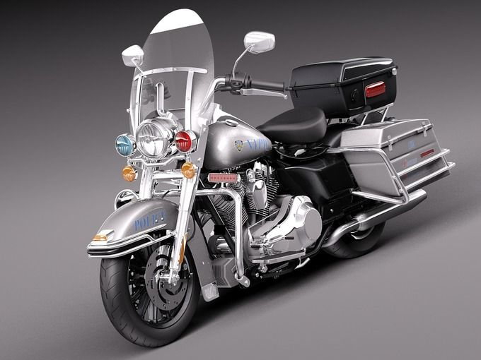 Harley-Davidson Road King NYPD by SQUIR on Creative Market