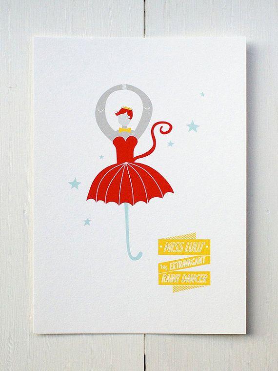 The Dancer  Circus Series di MonsieurP su Etsy.