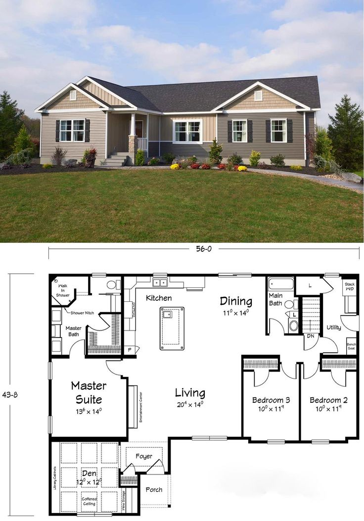 Awesome floor plan – the master bathroom has it all!