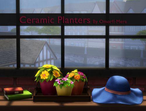 Ceramic Planters I Basegame I by omorfi-mera via tumblr I Maxis Match I Sims 4