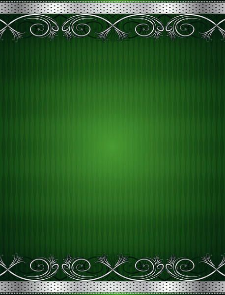 Green and Silver Deco Background