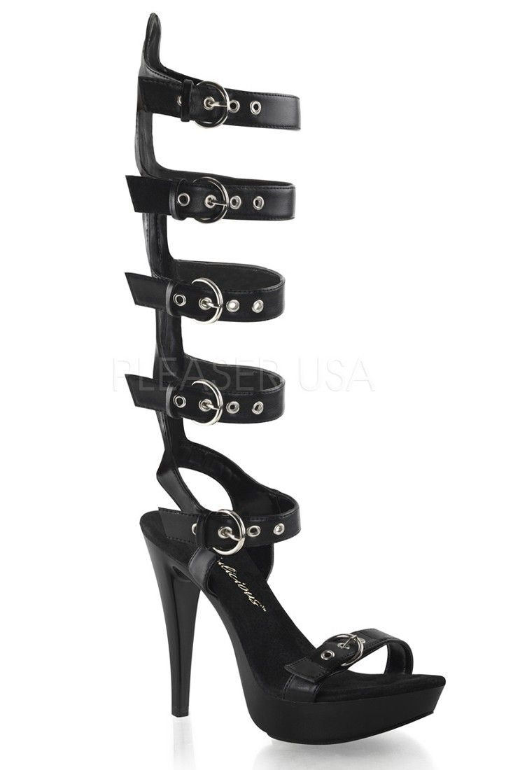 Strappy Knee High Gladiator Heels