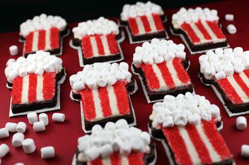 Movie Popcorn Brownies