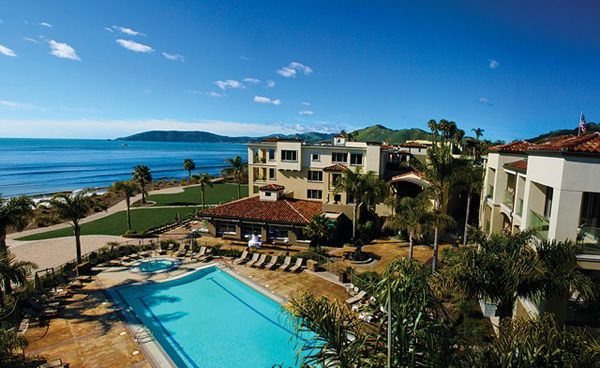 Luxury Beach Front Resort And Spa Situated On The Central Coast Of California