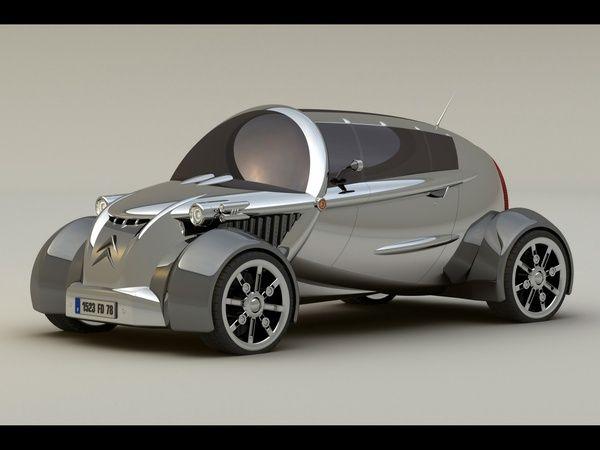 silver car 2008 citroen 2cv concept design concept car