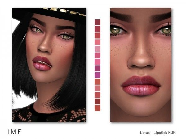 The Sims Resource: Lotus Lipstick N.64 by IzzieMcFire • Sims 4 Downloads