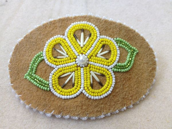 Flower Barrette – Alaska Beadwork