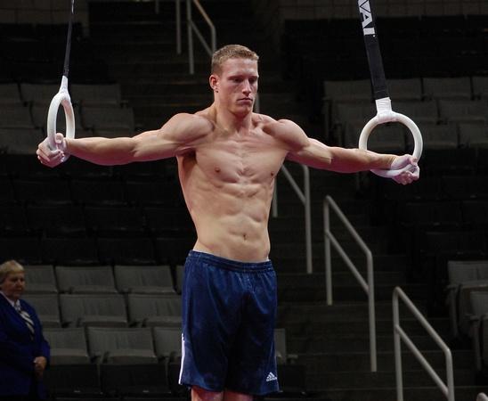 Steven Legendre  June 27, 2012 - Men's podium training for the 2012 U.S. Olympic Trials - Gymnastics at HP Pavilion in San Jose, Calif.