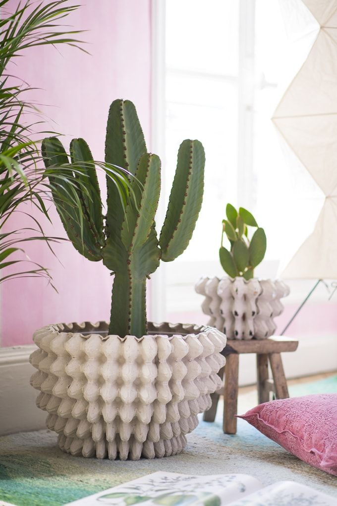 diy cache pot et photophore avec boites oeufs papier. Black Bedroom Furniture Sets. Home Design Ideas