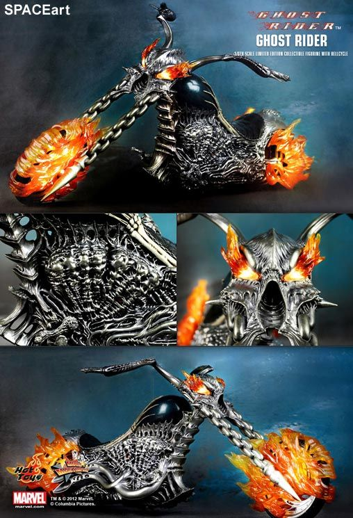 Ghost Rider: Ghost Rider with Hellcycle, Deluxe-Figur (voll beweglich) ... https://spaceart.de/produkte/gsr001.php
