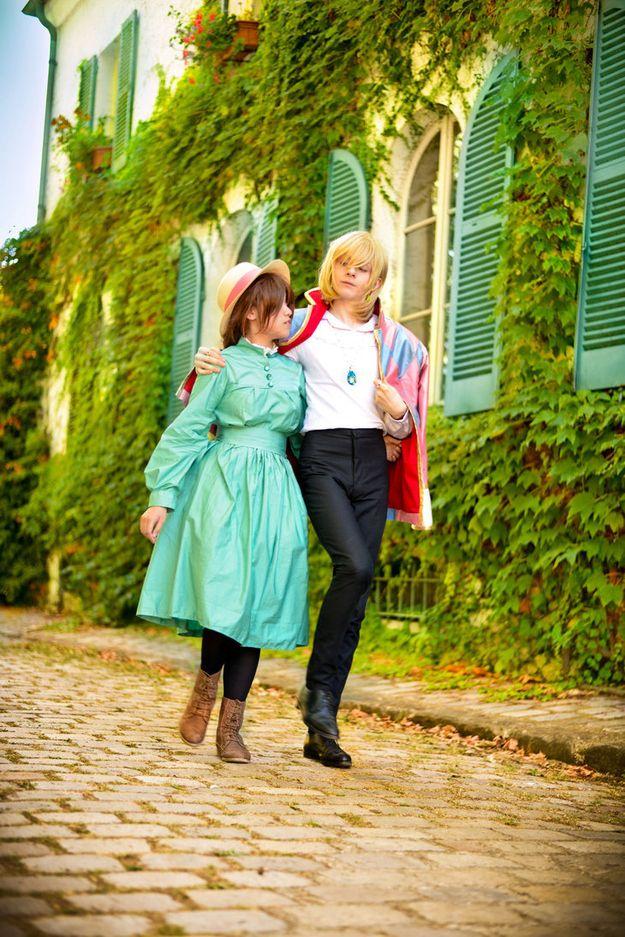 Howl y Sophie:   Disfraces para dos personas que mejorarán tu participación en Halloween