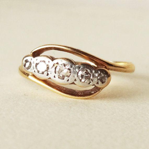 Antique Diamond Eternity Ring 1900 S Victorian Platinum 18k Gold Engagement Rox Size 4 5 75 1800 Rings