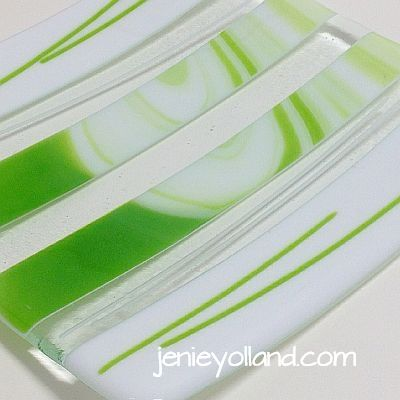 "Bright green and white - clean design titled ""Lime Delish"" by Jenie Yolland - available in lots of different sizes."
