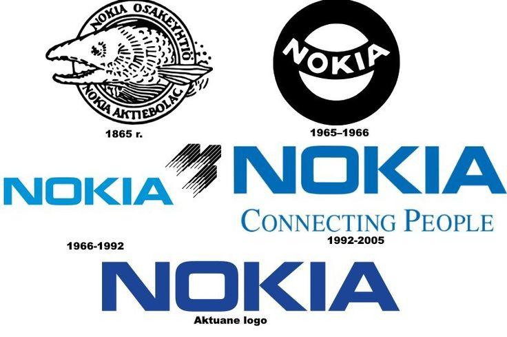 Poznajecie firmę z dziwacznym zwierzęciem w logo? Tak to Nokia, która powstała w 1865 r. jako fabryka masy papierniczej i której pierwszym symbolem był łosoś. Dopiero późniejsza zmiana profilu działalności firmy odbiła się w logo, które z czasem ewoluowało w dobrze znany nam znak graficzny.
