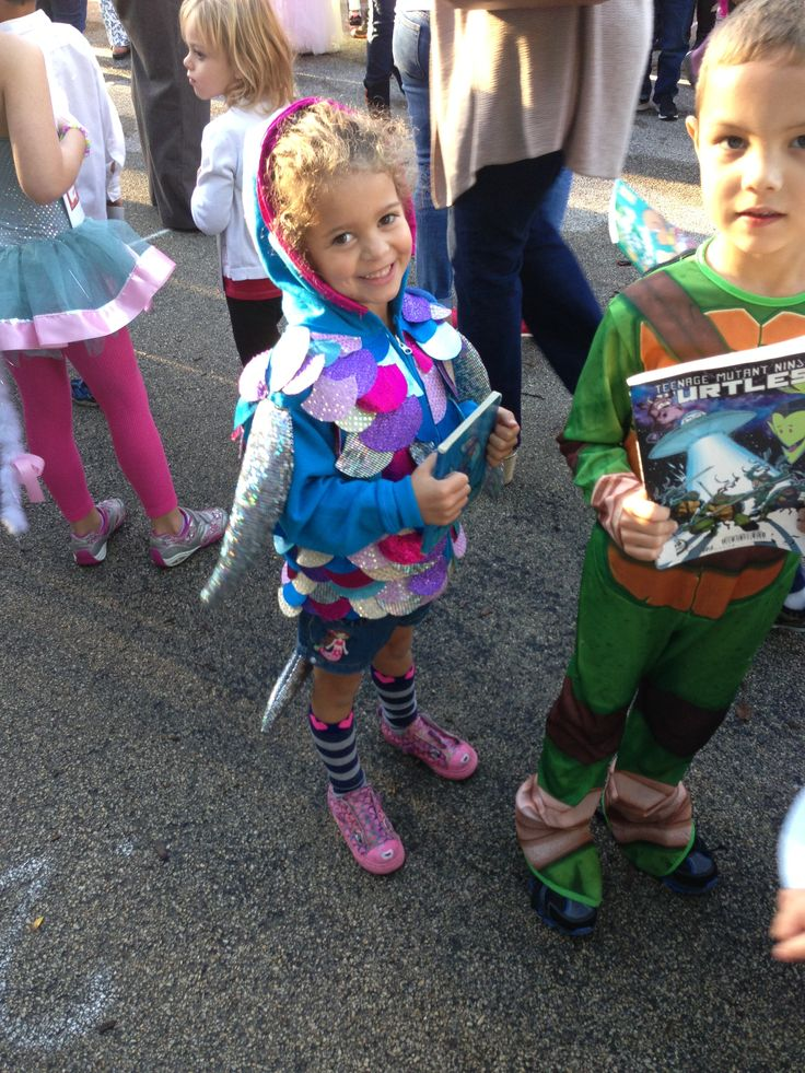 Rainbow Fish hoodie book character parade costume