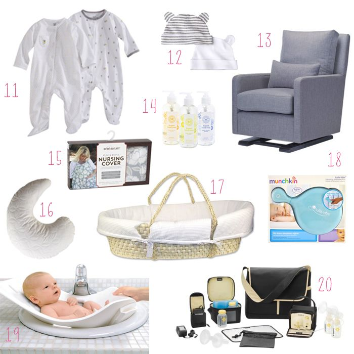 The 20 things you need for the first month home with a newborn baby