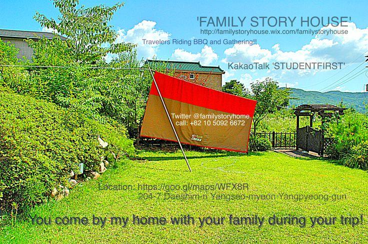 Yangpyeong in 양평, 경기도  ** '가족이야기' 양평펜션/캠핑 홈페이지 HOMEPAGE http://familystoryhouse.wix.com/familystoryhouse  **펜션/캠핑 문의 카카오톡 'STUDENTFIRST'                          (KAKAOTALK)   *위치 LOCATION   (위치지도) 구글 https://goo.gl/maps/WFX8R 네이버 http://me2.do/xUqtUhzU