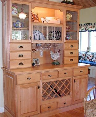 Hutch With Wine Rack Country Kitchens The Kitchen Bath Centerwww