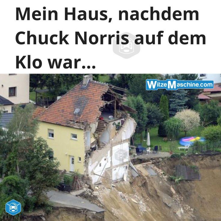 Chuck Norris Witze - Fakten - Chuck Norris auf dem Klo - Erdrutsch