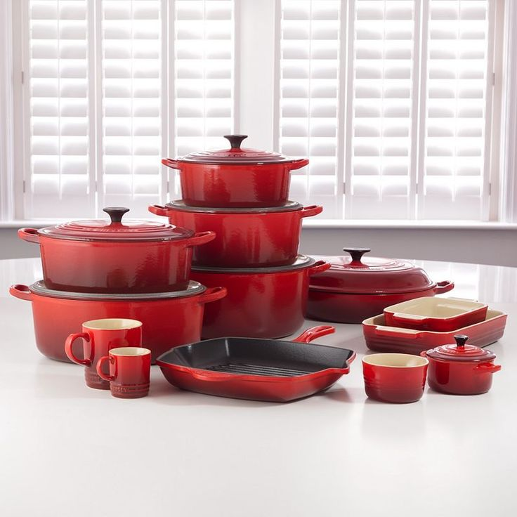 My wedding gift ideas: Red. Le Creuset cookware #johnlewis #kitchen Registering your list is free and easy - simply call or visit your local shop, or go online: www.johnlewisgiftlist.com