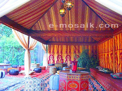 Moroccan style tents pinterest for Arabian tent decoration