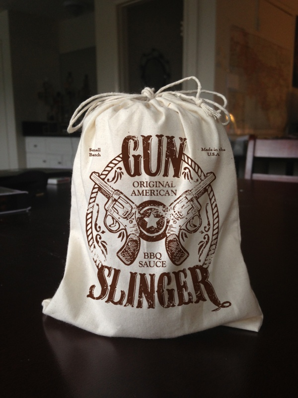 drawstring bag; old west style