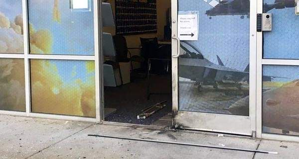 The FBI is treating as a criminal act an explosion that damaged an Air Force recruiting station in Oklahoma Monday night.
