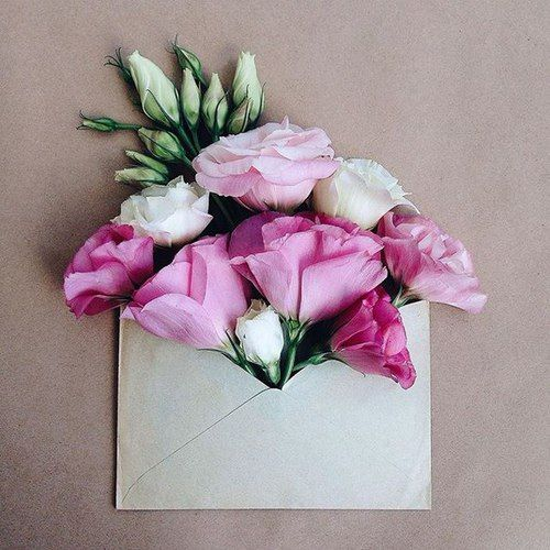 flowers + envelope