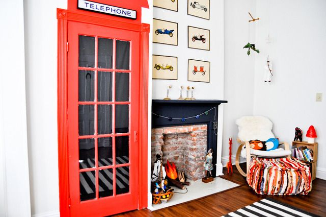 TelephoneDecor Kids Room, The Doors, Closets Doors, Leif Modern, Bookcas, Kid Rooms, Telephone Booths, Boys Room, Modern Victorian Bedrooms