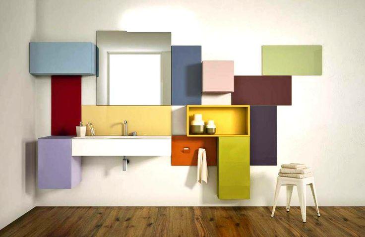 Un baño a todo color.