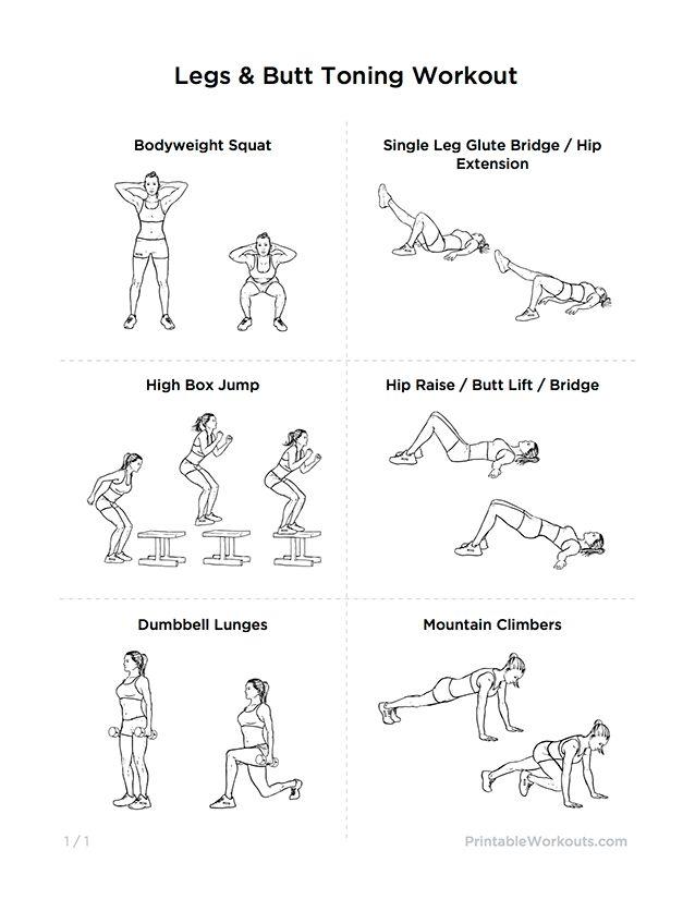 Girls workout legs