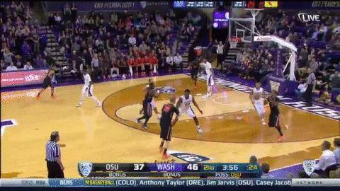 Gary Payton II - What a dunk vs. the Huskies.