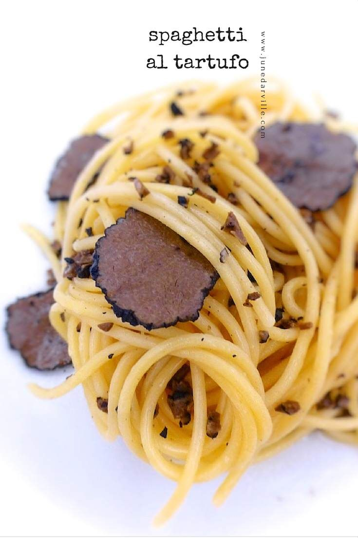 Melted truffle butter and al dente pasta... truffle spaghetti paradise!