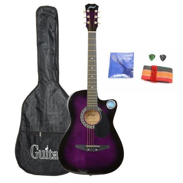 E, Cutaway Acoustic Guitar Purple Bag Strap Pick CSP-38C 38 Basswood Guitar Pack: Bid: 62,06€ (£55.29) Buynow Price 62,06€ (£55.29)…