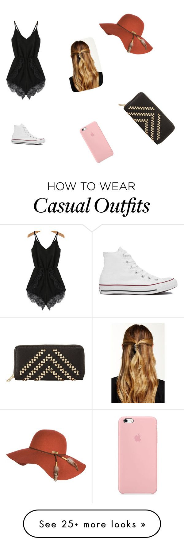 """Casual"" by samara10 on Polyvore featuring Converse, Billabong, Charlotte Russe and Natasha Accessories"